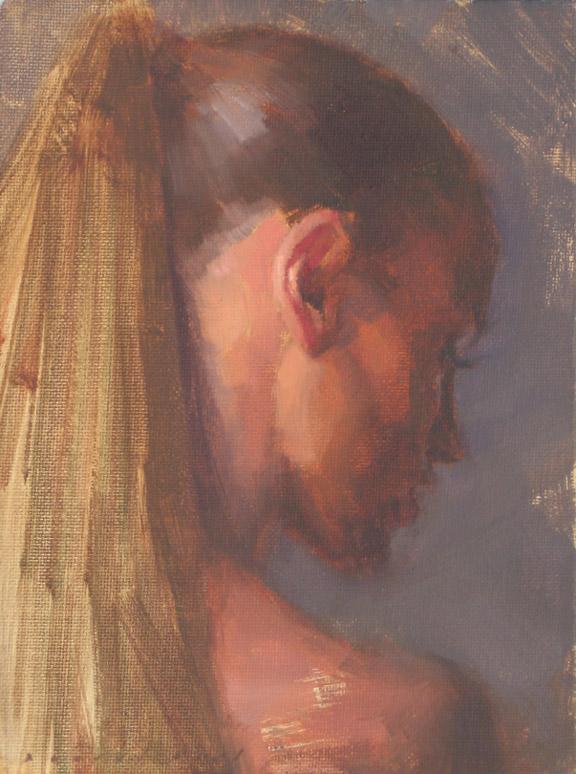 female portrait ponytail