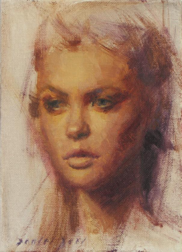 pretty girl portrait painting