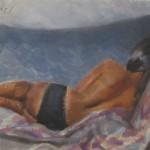 implied female nude
