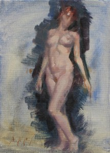 angel nude painting