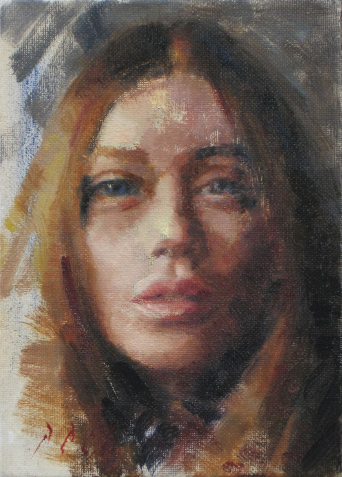 """Julianne"" Portrait of a young girl 5×7 oil painting a day ..."