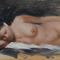 nude female reclining