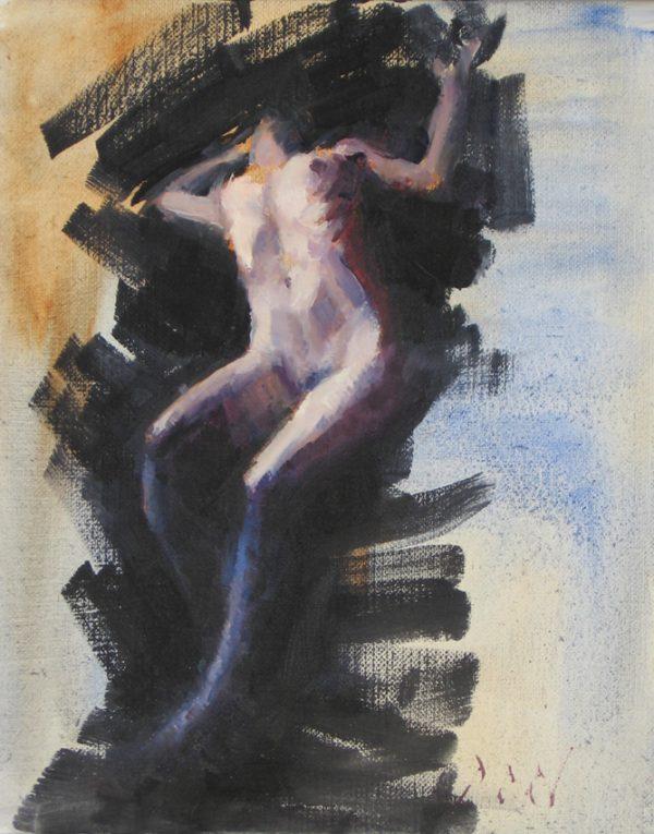 ascending female nude