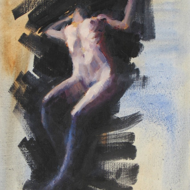 ascending female nude