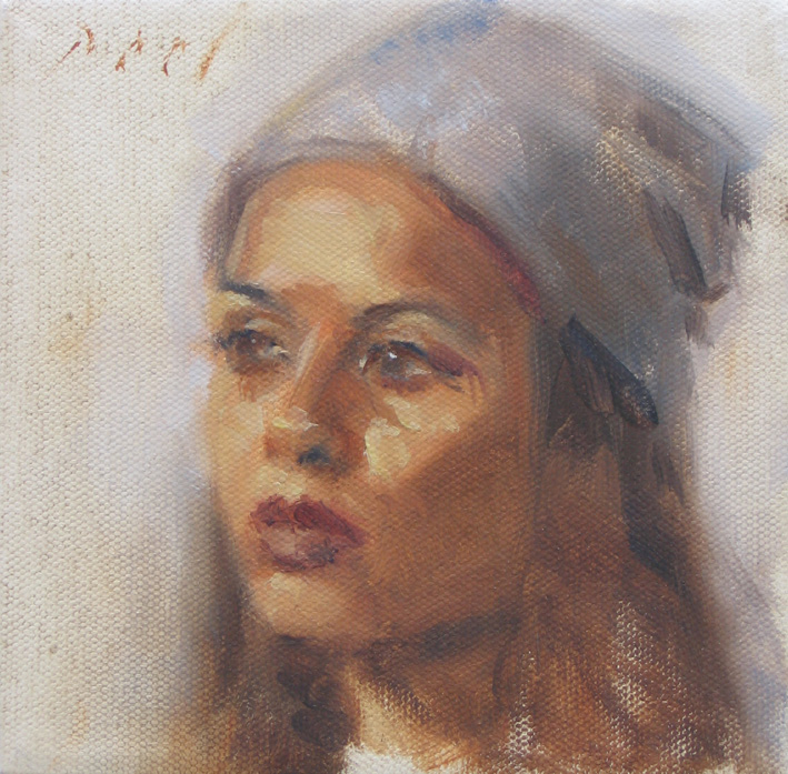 indian girl with a hat