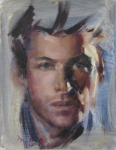 sidelit male portrait
