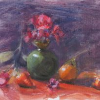 purpleflowersandtangerine-1
